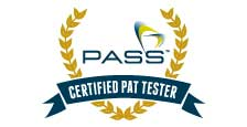 Pass certified pat tester logo