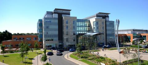 View of Peterborough City Hospital